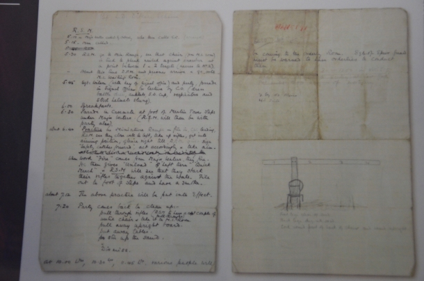 manuscript from a prison warden's journal