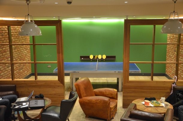 the downstairs game room