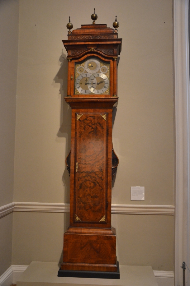 Double Longcase Clock by Daniel Quare, 1716