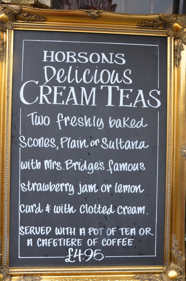 Hobsons 'delicious cream teas'