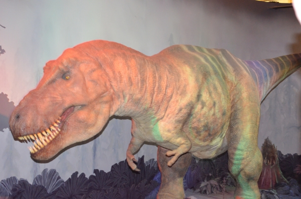 T-Rex machine, ala 'Jurassic Park'