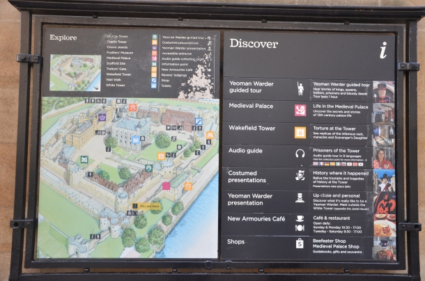 map of the Tower of London