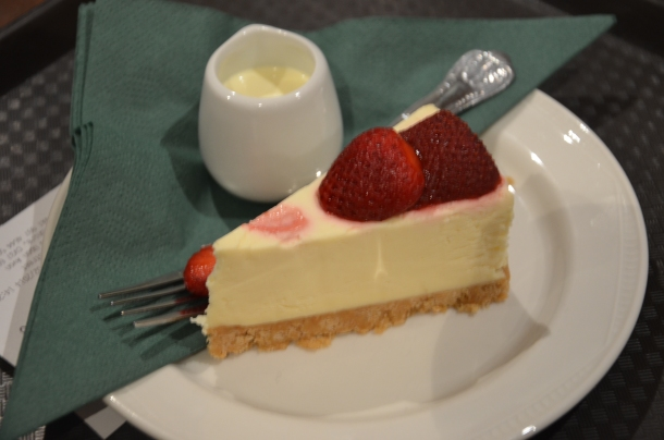 Fatima's strawberry cheesecake + cream
