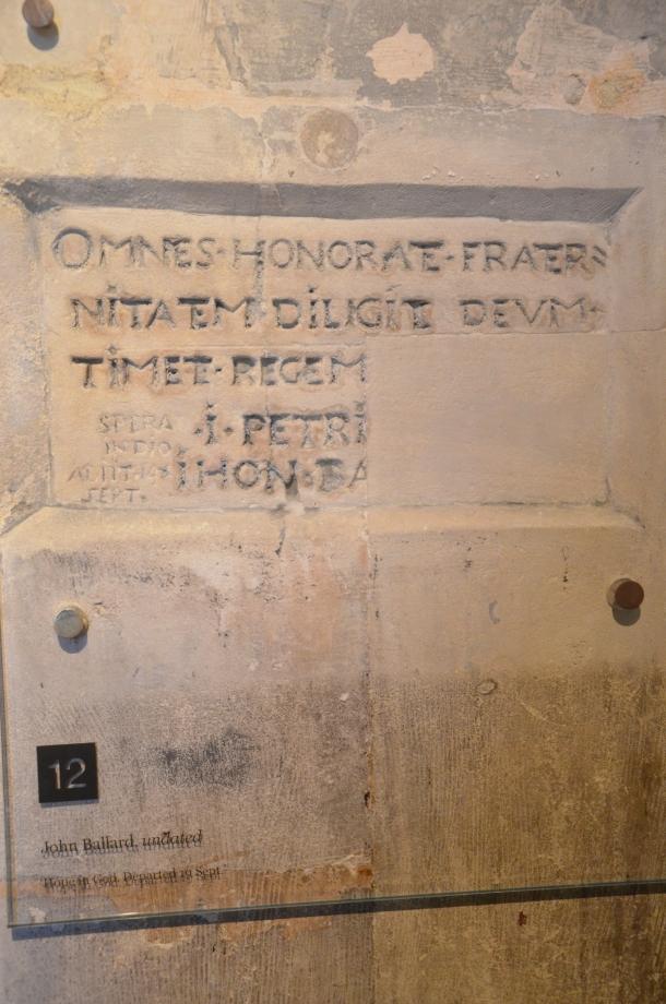 graffiti inside Beauchamp Tower