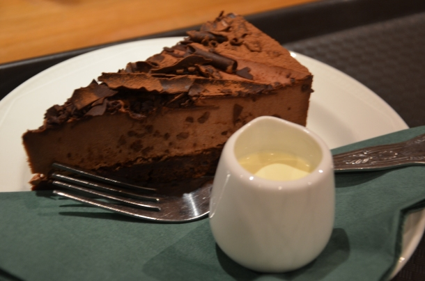 my Chocolate Brownie Torte + cream