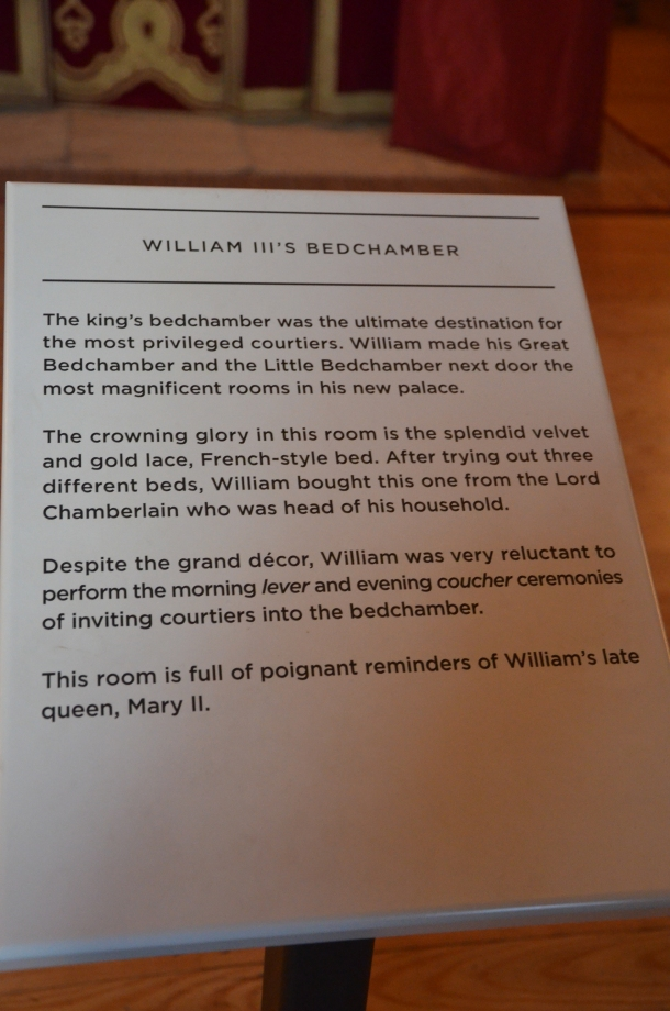 bedchamber information plaque