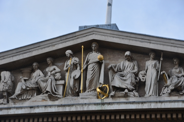 statues on the pediment