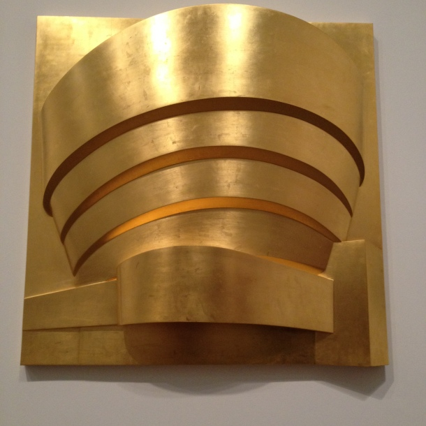 """Gold"" (Fiberglass, cellulose, gold leaf)"