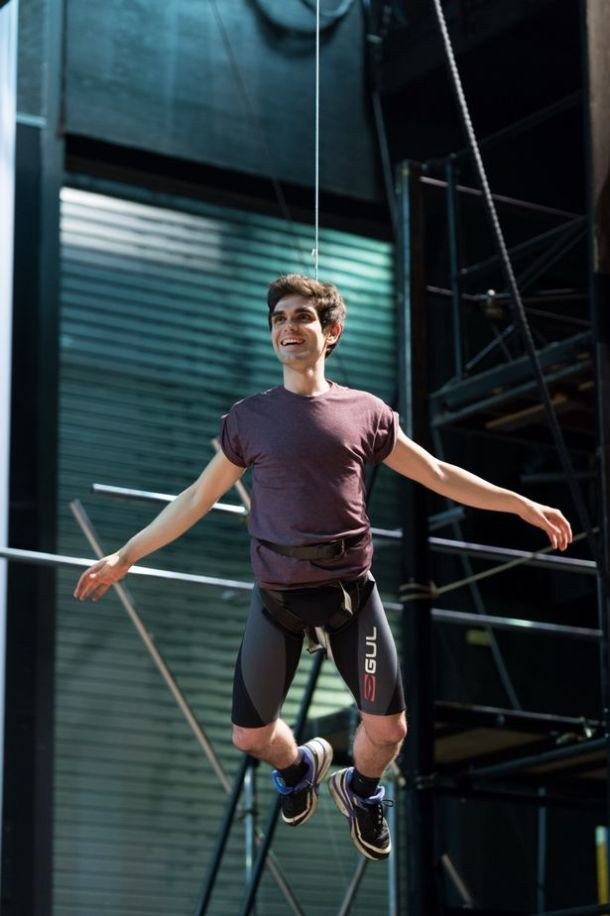 Sam Swann preparing for his role as Peter Pan © birminghammail.co.uk