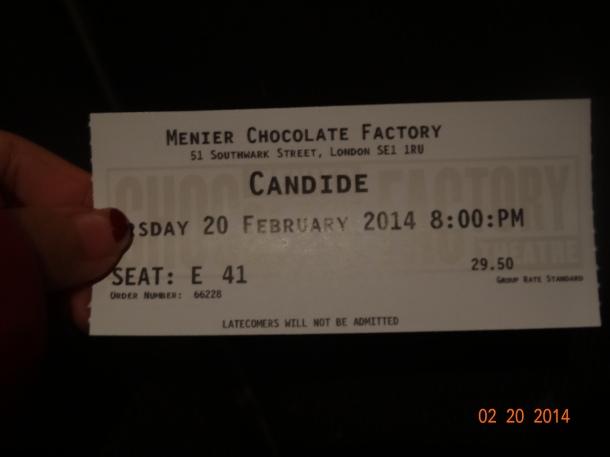 ticket to the operetta