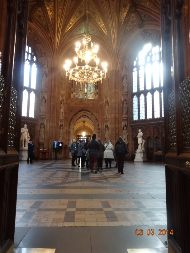 entrance to the House of Lords and the House of Commons