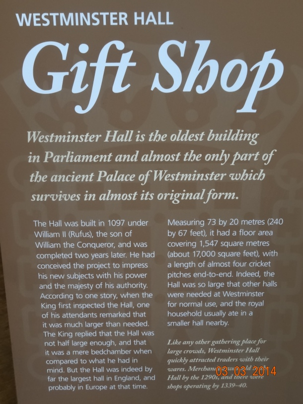 Westminster Hall description