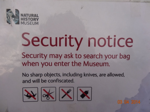Museum Security Notice