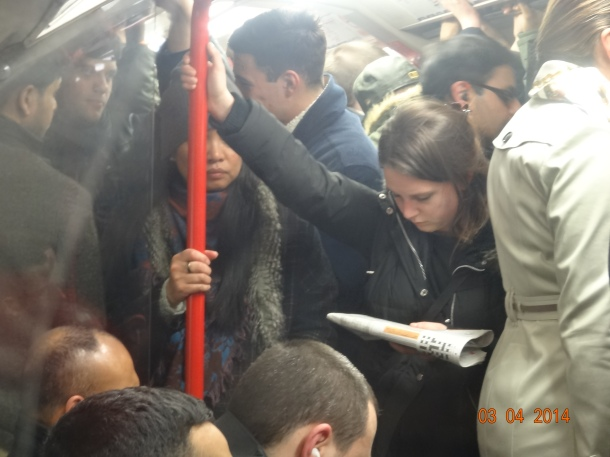 crowding in the tube