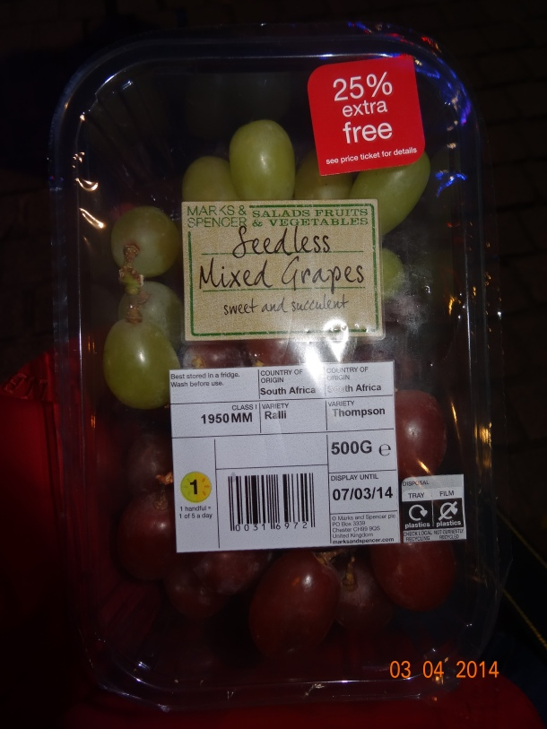 grapes for snacks!