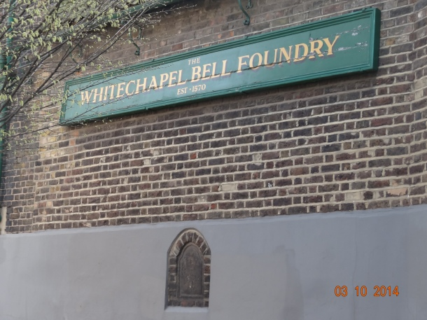 The Whitechapel Bell Foundry, est. 1570