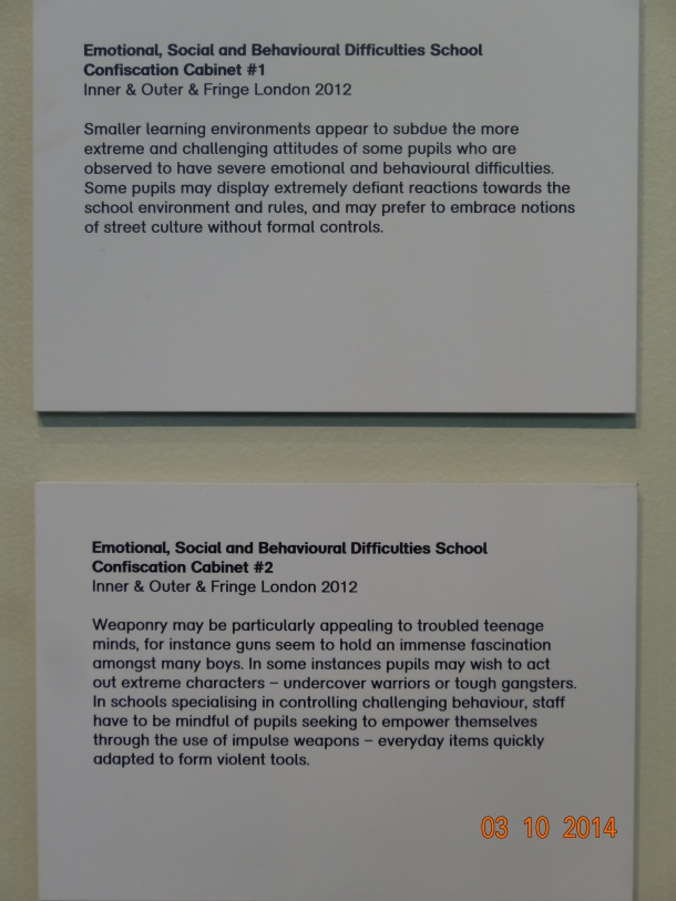 Emotional, Social, and Behavioral Difficulties School Confiscation Tablets #1 and #2 (Inner & Outer Fringe, London 2012)