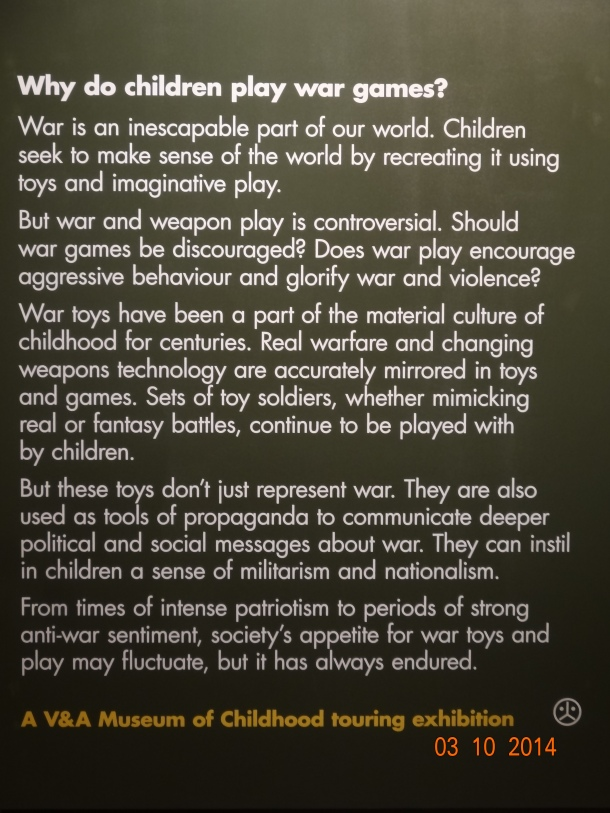 """Why do children play war games?"""