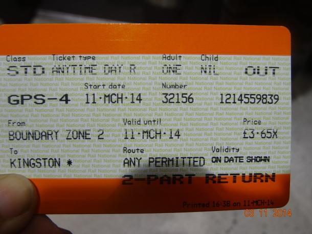 ticket to Kingston