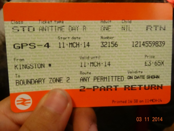 ticket back to London