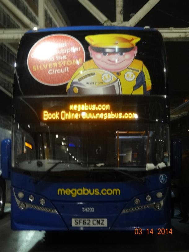 Megabus to Glasgow