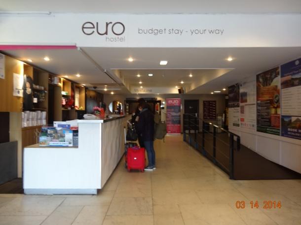 Euro Hostel lobby