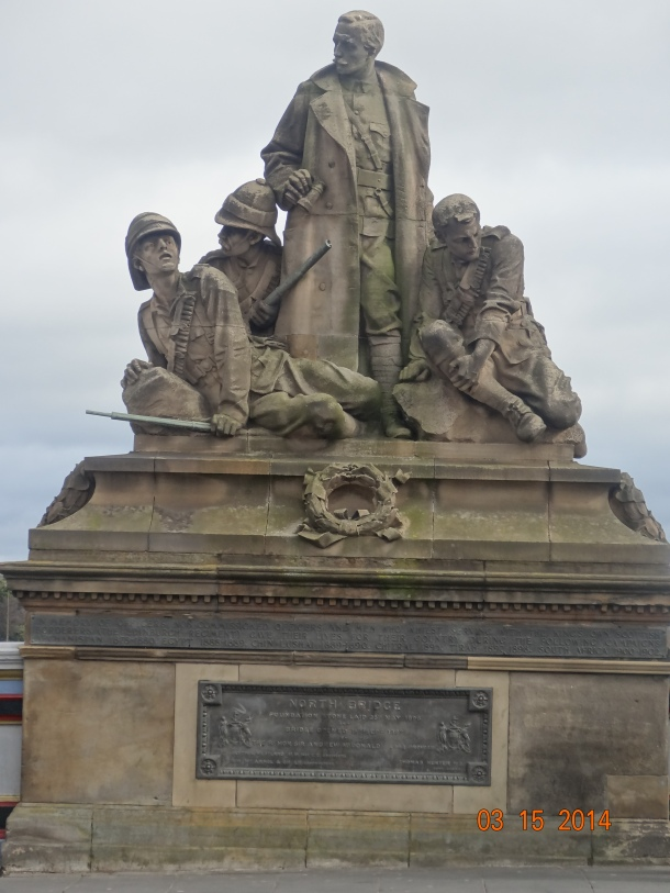 Scottish National War Memorial, located in Edinburgh Castle, and commemorates Scottish soldiers, and those serving with Scottish regiments, who died in the two world wars and in more recent conflicts. The monument was formally opened in 1927.