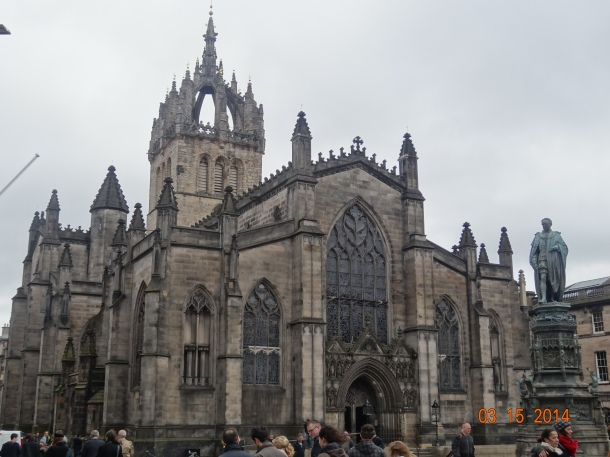 St Giles' Cathedral, more properly termed the High Kirk of Edinburgh, is the principal place of worship of the Church of Scotland in Edinburgh