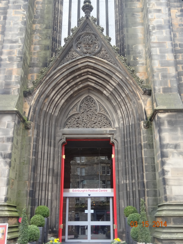 entrance to Edinburgh's Festival Center