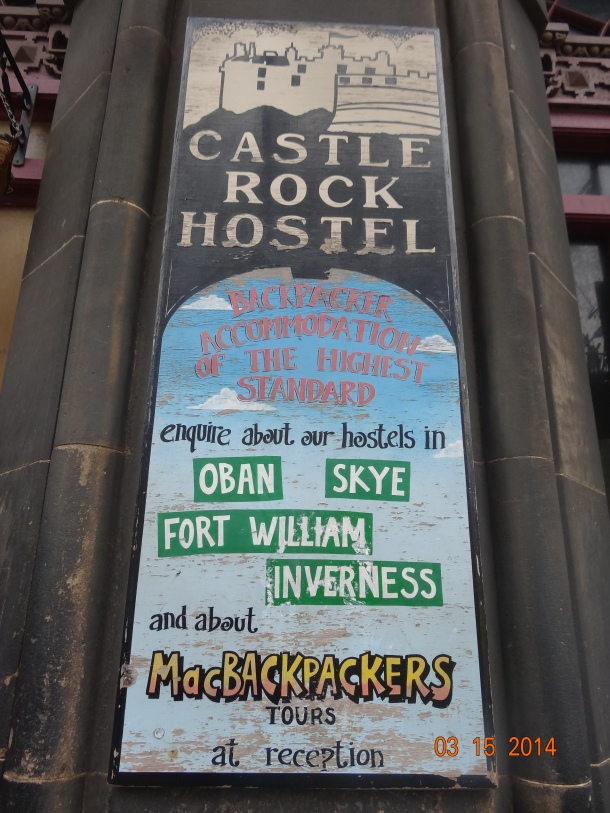 entrance to Castle Rock Hostel