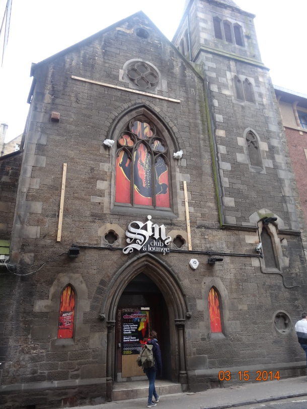 Sin, club and lounge - a converted church