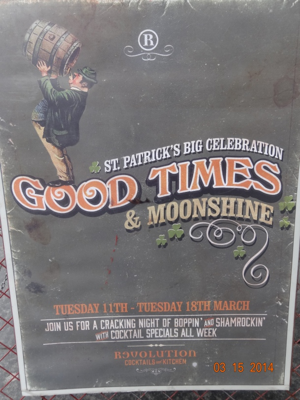 St. Patrick's Day celebration: good times & moonshine