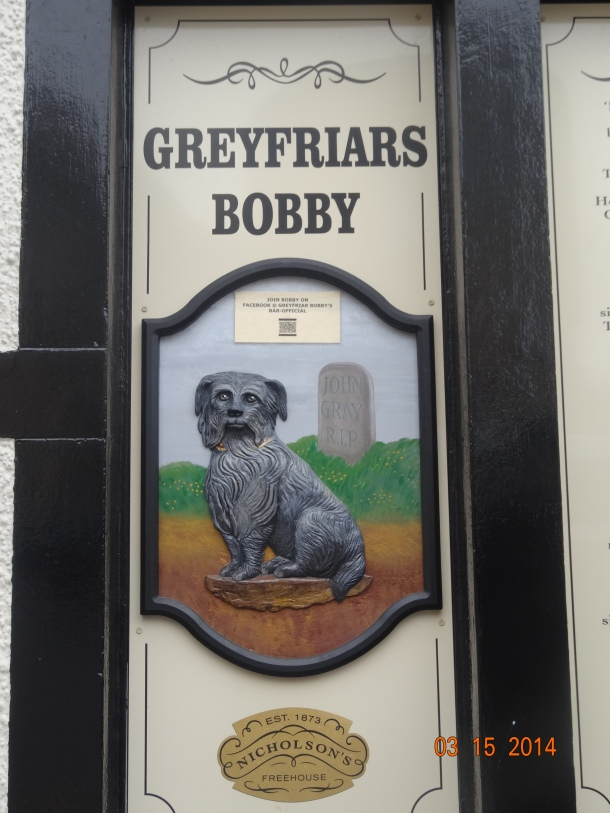 plaque of Greyfriar's Bobby