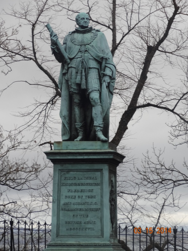 bronze statue of Prince Frederick, Duke of York and Albany, by Thomas Campbell (1837)