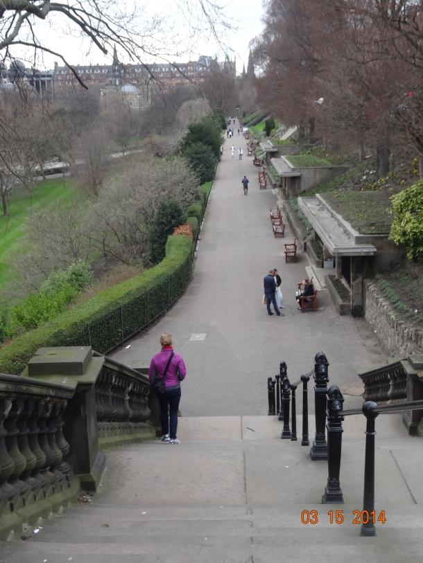 Princes Street Gardens walkway