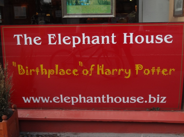 "The Elephant House, ""the birthplace of Harry Potter"""