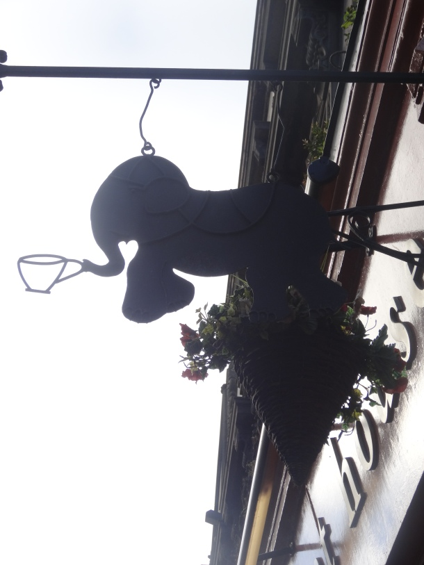 The Elephant House sign