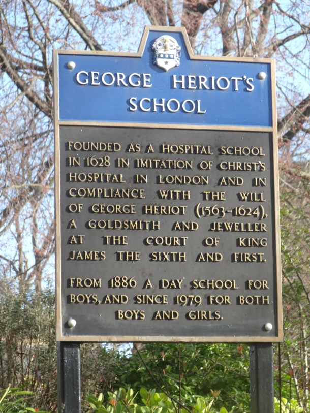George Heriot's School information plaque