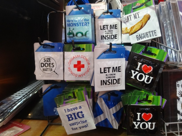 trying-to-be-witty condom wrappers