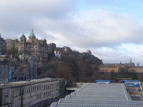 view of the Bank of Scotland (blue dome)