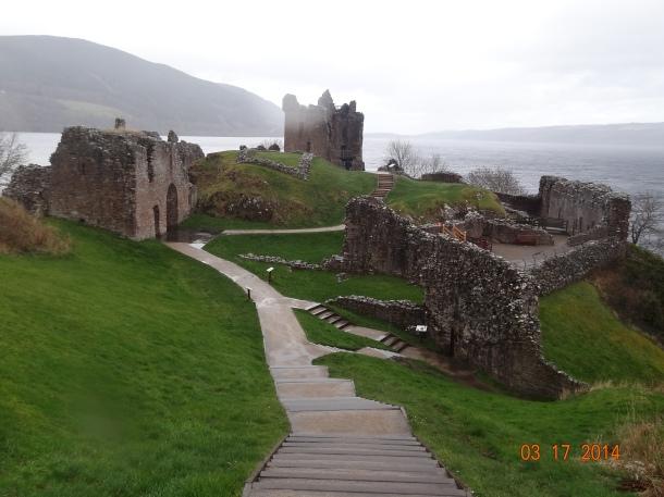 Urquhart Castle facing Loch Ness