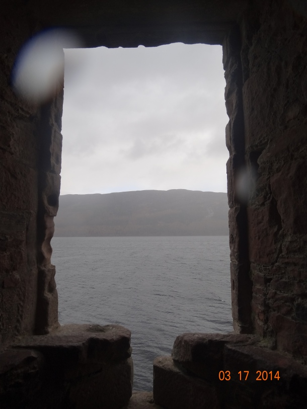 window looking out towards Loch Ness