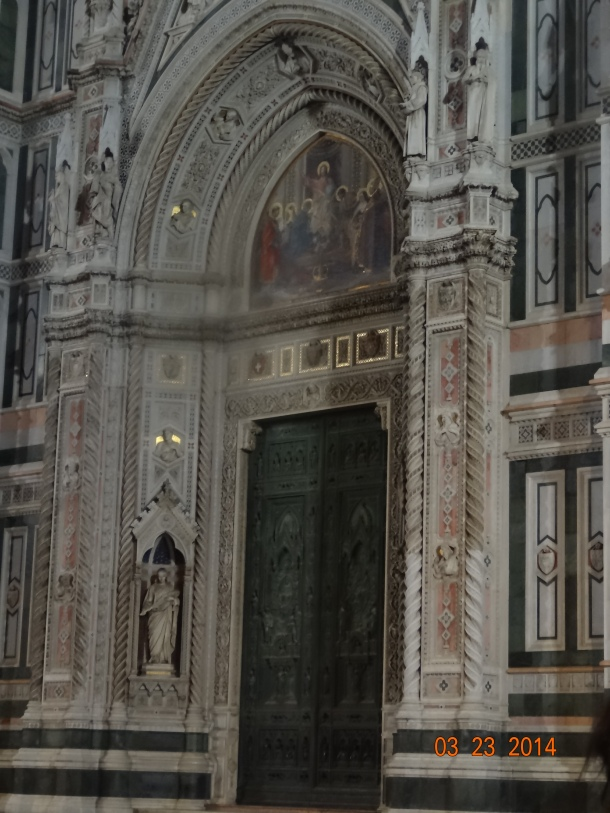 front door of the Duomo
