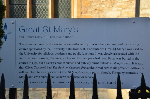 Great St. Mary's description