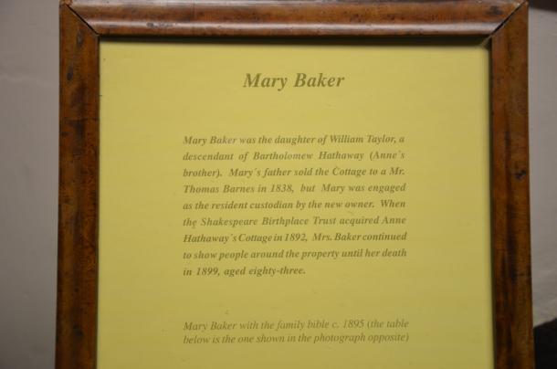Mary Baker information