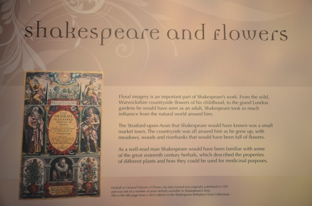 Shakespeare and Flowers