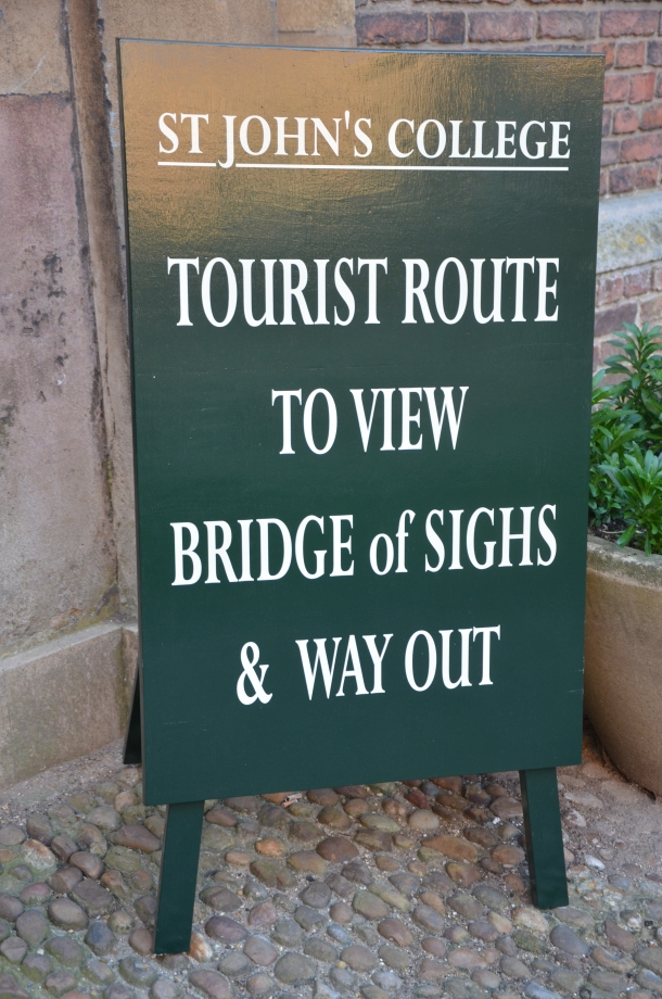 """Tourist Route to view Bridge of Sighs & Way Out"""