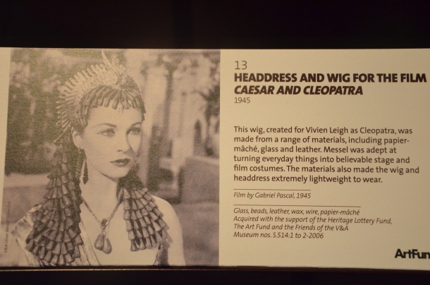 """information on the headdress and wig used in """"Caesar and Cleopatra"""""""