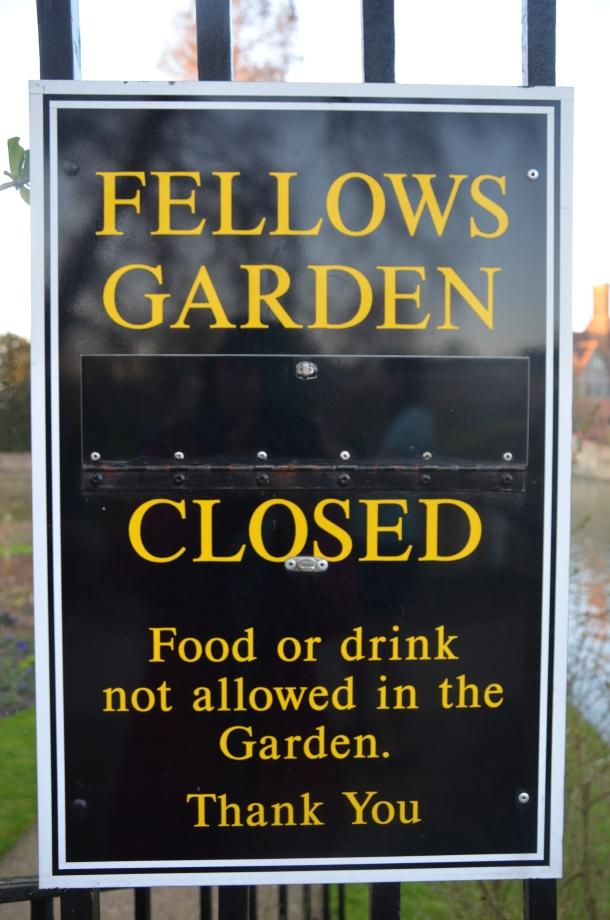 """""""Fellows Garden - closed"""""""