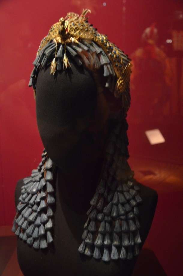 """the headdress and wig used in """"Caesar and Cleopatra"""""""